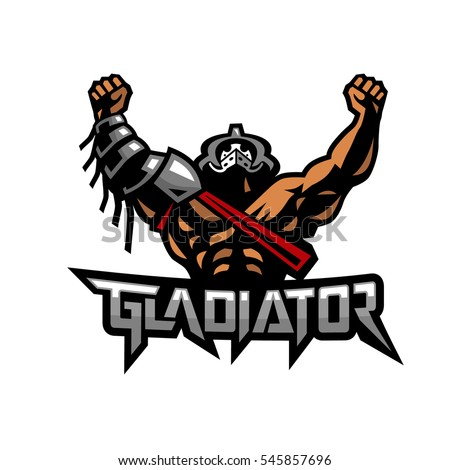 gladiator stock vector 545857696 shutterstock rh shutterstock com gladiator logo design gladiator logo vector