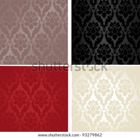 glamorous  floral background - stock vector