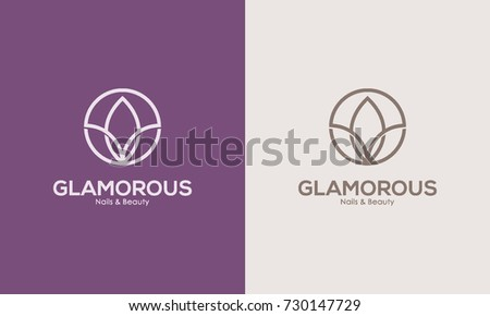 glamour logo design template icon symbol stock vector royalty free