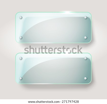 Glass advertising board. Template for a text - stock vector
