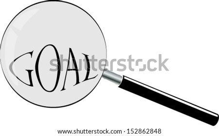 glass and goal - stock vector
