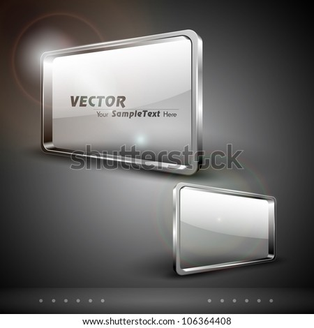 Glass billboard or banners, isolated on grey background. EPS 10. - stock vector