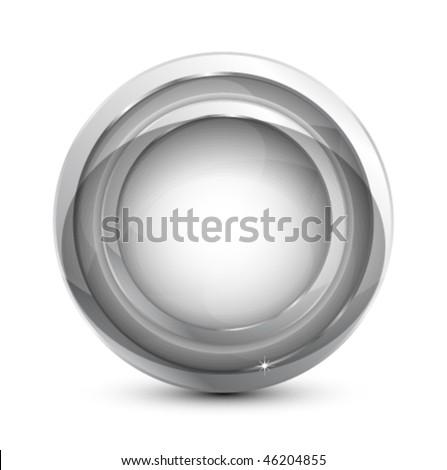 Glass button - stock vector
