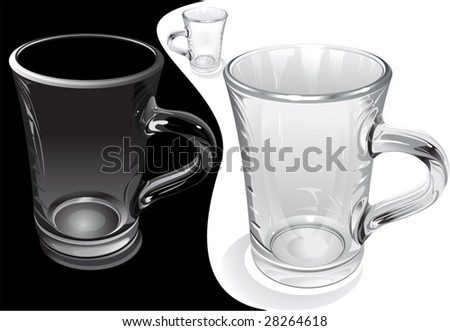 glass cup/ to paint from nature - stock vector