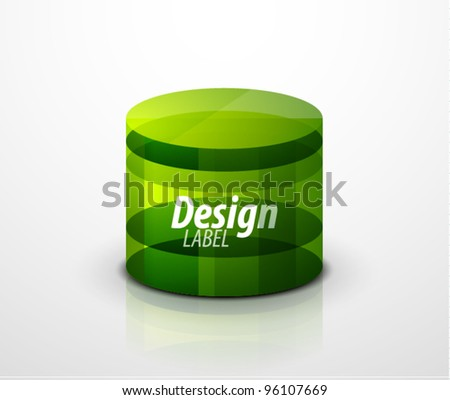 Glass cylinder icon. Vector eps10 object - stock vector