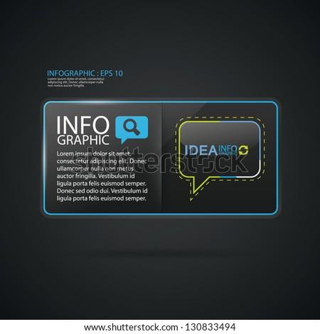 Glass display framework set. Vector illustration. Suitable for infographics. Graphic design or web design. - stock vector