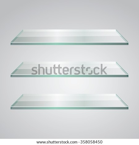 glass display shelves. Vector Illustration - stock vector