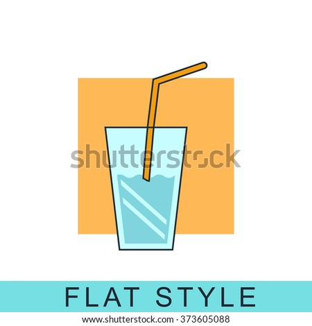 Glass drink Icon Vector.
