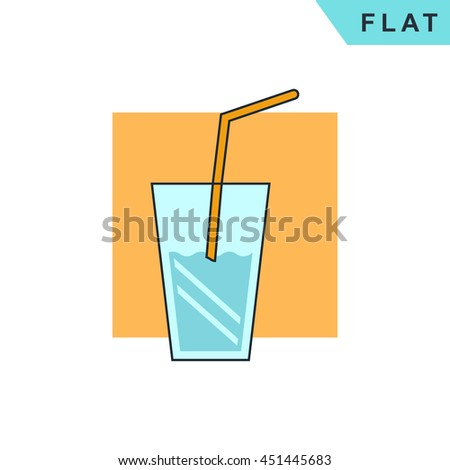 glass drink with tube icon