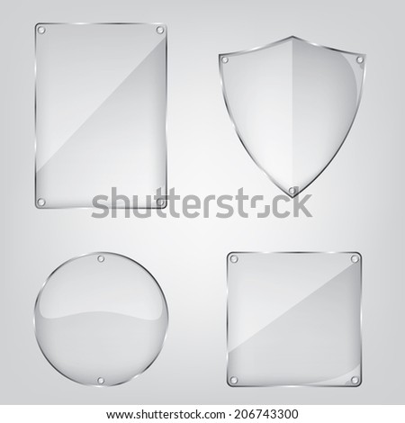 Glass frame collection - stock vector