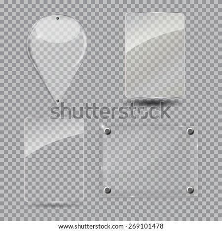 Glass Frame Set. Vector Illustration. EPS10 - stock vector