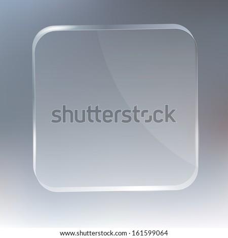 glass frames - stock vector