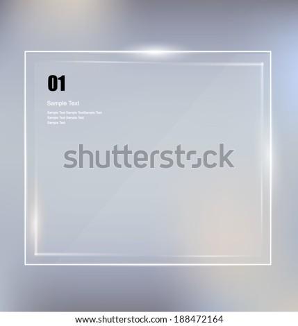 Glass framework design. Vector  - stock vector