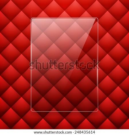 Glass framework Leather background. Vector illustration. Eps 10 - stock vector