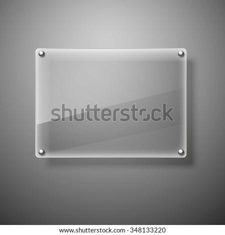 Glass framework Vector illustration. Eps10 - stock vector