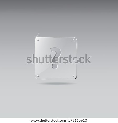 Glass framework with question mark icon - stock vector