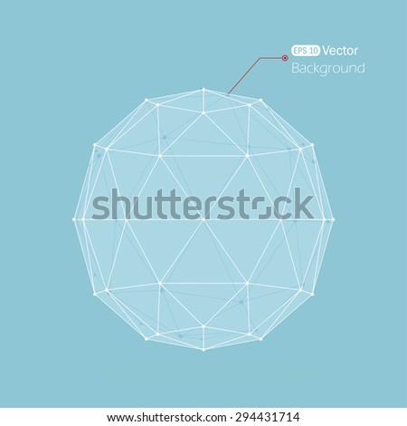 Glass geometrical background with lines - stock vector