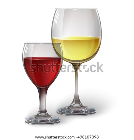 Glass glasses with wine