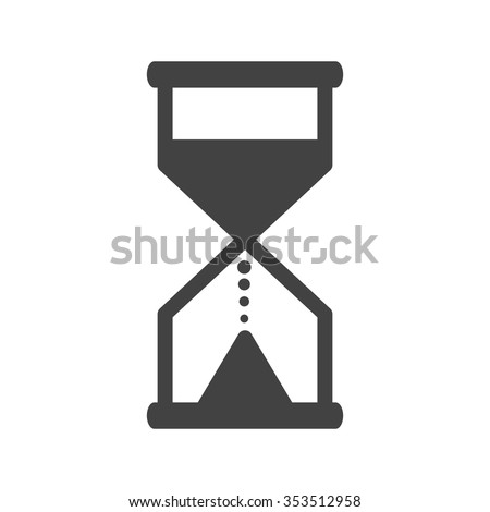 Glass, hourglass, sand icon vector image. Can also be used for objects. Suitable for use on web apps, mobile apps and print media. - stock vector