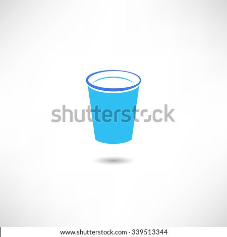 Glass icon - stock vector