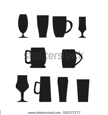 Glass icon set