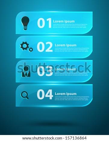 Glass Infographics Vector Elements - stock vector