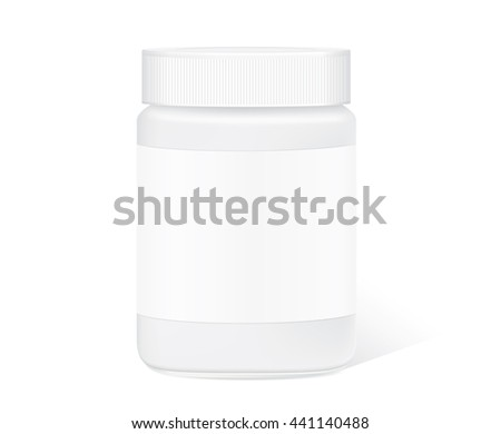 Glass Jar Empty Have Blank Label Stock Vector 441140488 - Shutterstock