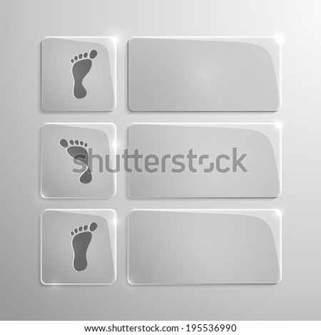glass modern icons set of pronation of the foot - stock vector