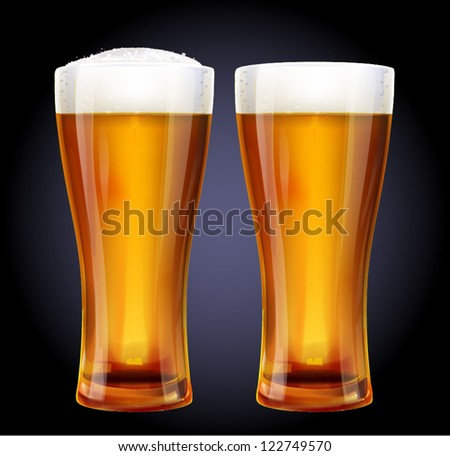 Glass of beer - stock vector