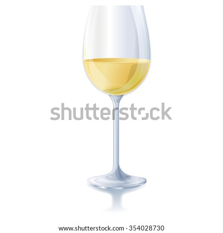 Glass of fresh white wine