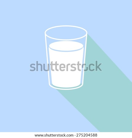 glass of milk icon, vector illustration - stock vector