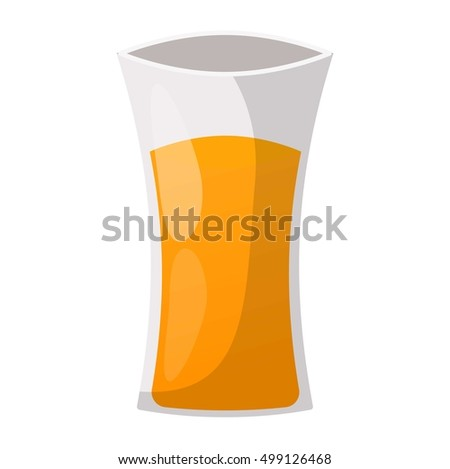 Glass of orange juice fresh drink beverage healthy drink isolated vector illustration