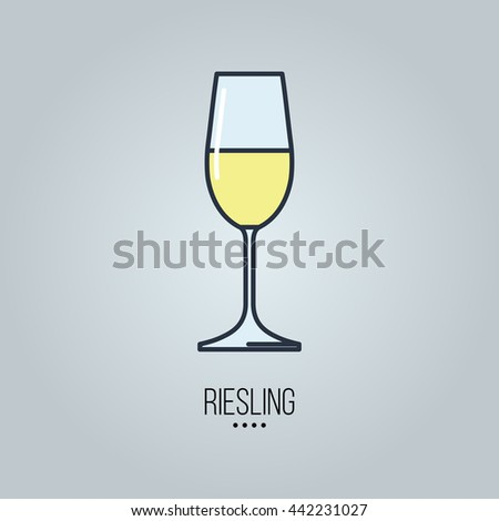 glass of  riesling wine icon