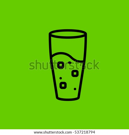 glass of water icon flat disign