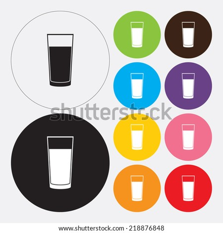 Glass of water icon - Vector - stock vector