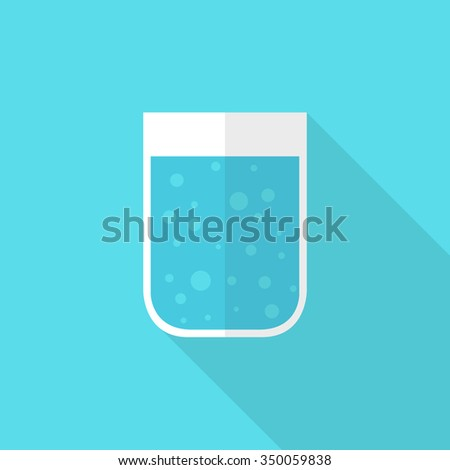glass of water icon. vector illustration - stock vector