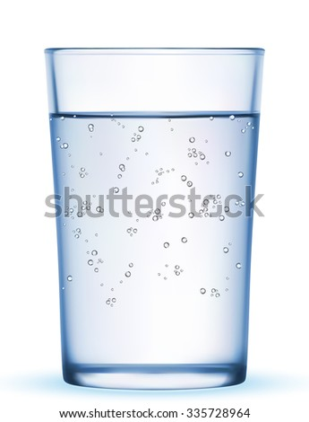 Glass of water isolated. Vector illustration EPS-10 - stock vector