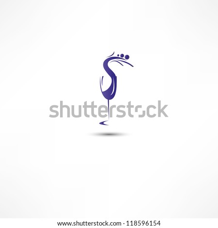Glass Of Wine Icon - stock vector