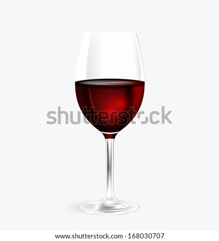 Glass of wine. Vector eps 10