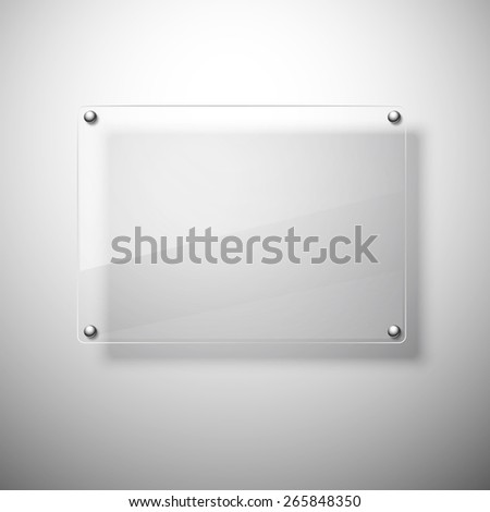 Glass plate. Realistic vector. Vector illustration.  - stock vector