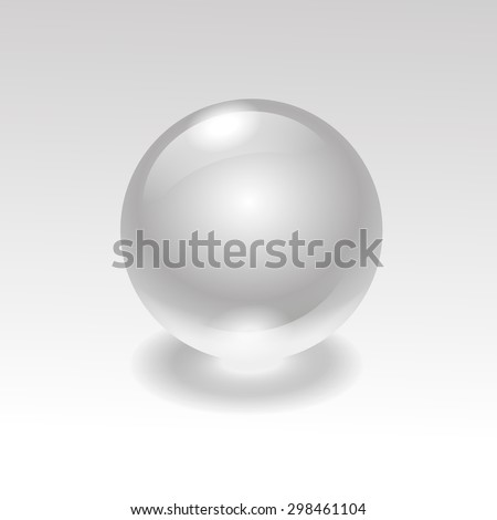 Glass realistic water  sphere ball isolated on background vector   - stock vector