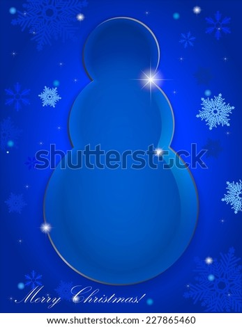 Glass snowman - stock vector