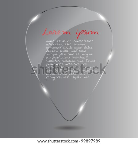 Glass Speech Bubble. Vector illustration.