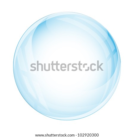 Glass sphere isolated on white - stock vector