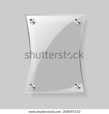 Glass vector rectangle plane. Easy editable background - stock vector