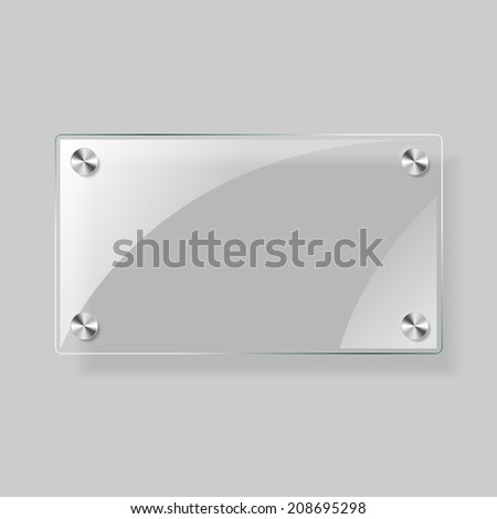 Glass vector square plane. Easy editable background - stock vector