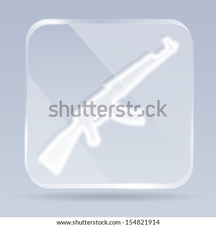 glass weapons icon - stock vector