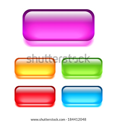 Glass web buttons - stock vector