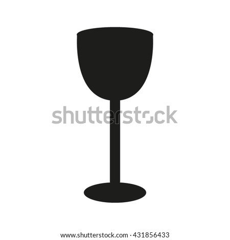 glass with drink, vector icon