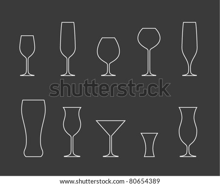 Glasses - stock vector